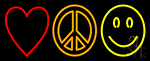 Love Peace Happiness Neon Sign