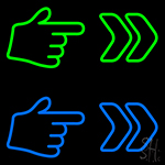 Pointer Arrow Hand Neon Sign