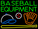 Baseball Equipment Neon Sign