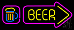 Beer With Beer Mug Neon Sign