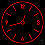 Red Clock Neon Sign