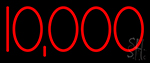 10000 Red Neon Sign