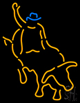 Bull Fighter With Bull Red Neon Sign