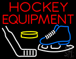 Hockey Equipment Neon Sign