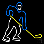 Hockey Neon Sign