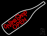 Wine Shop Open Logo Neon Sign