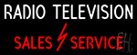Radio Television Sales Service Neon Sign