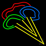 Blue Green Red Ice Cream Neon Sign
