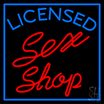 Licensed Sex Shop Neon Sign