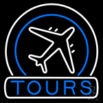 Tours Icon Neon Sign