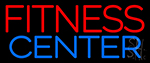 Fitness Center In Red Neon Sign
