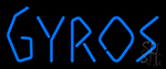 Gyros Bright Blue Letter Neon Sign