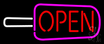 Ice Pop Logo Open Ice Cream Neon Sign