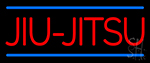 Jiu Jitsu In Red With Blue Lines Neon Sign