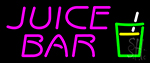 Juice Bar Pink Text Glass Logo Neon Sign