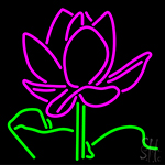 Lotus Red And White Neon Sign