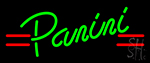 Panini With Red Accent Lines Neon Sign