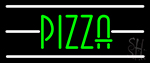 Pizza With White Line Neon Sign