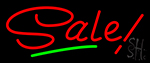 Red Sale With Green Line Neon Sign