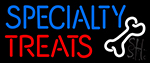 Specialty Treats With Bone Neon Sign
