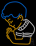 Praying Boy Neon Sign