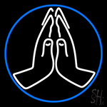 Praying Hands Icon Neon Sign