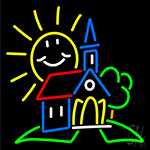 Summer Church Clipart Neon Sign