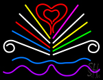 Love Book Logo Neon Sign