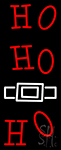 Red Ho Ho Ho Santa Logo Neon Sign