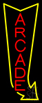 Vertical Arcade Logo Neon Sign