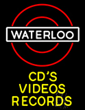 Waterloo Cds Videos Records Neon Sign