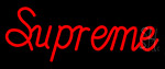 Supreme Red Neon Sign