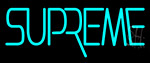 Supreme Turquoise Neon Sign