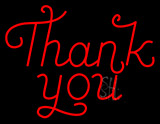 Red Thank You Neon Sign