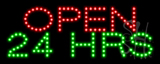 Red Open 24 Hrs LED Sign