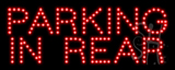 Parking In Rear LED Sign