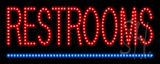 Restrooms LED Sign