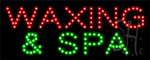 Waxing And Spa LED Sign