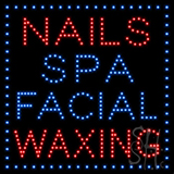 Nails Spa Facial Waxing Led Sign