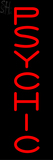 Vertical Red Psychic Neon Sign