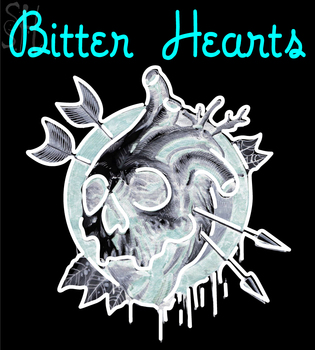 Custom Bitter Hearts Skull Logo Neon Sign 1 #0: custom bitter hearts skull logo neon sign 1 lm1fE