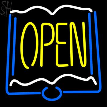 Custom Books Yellow Open Neon Sign 3 #1: custom books yellow open neon sign 2 CkJvj