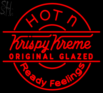 Custom Krispy Kreme Hot N Ready Feelings Neon Sign 3