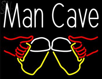 neon sign custom cave man beer light signs mug enlarge