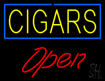 Yellow Cigars Blue Border Open Neon Sign  Bar Neon Signs. Master Chief Logo. Ptsd Signs. Ibrani Lettering. Yearly Signs. Flame Banners. Right Mca Signs Of Stroke. Wrx Decals. Nursery Signs Of Stroke