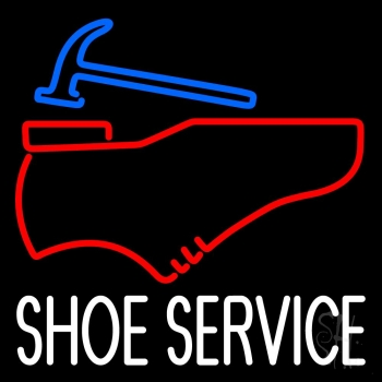 White Shoe Service Neon Sign