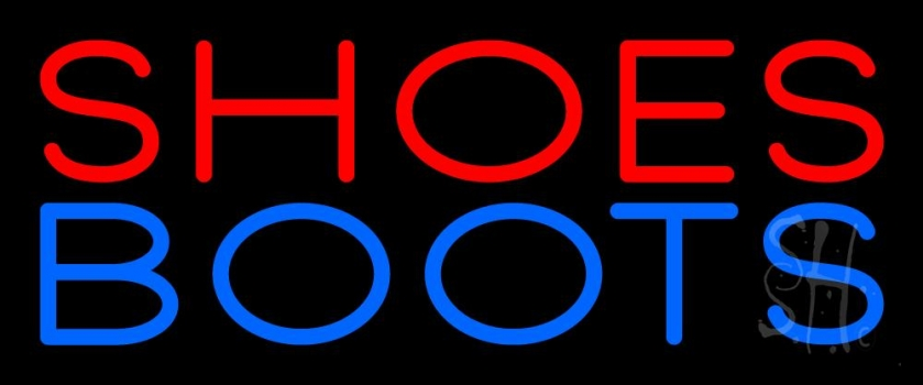 Red Shoes Blue Boots Neon Sign
