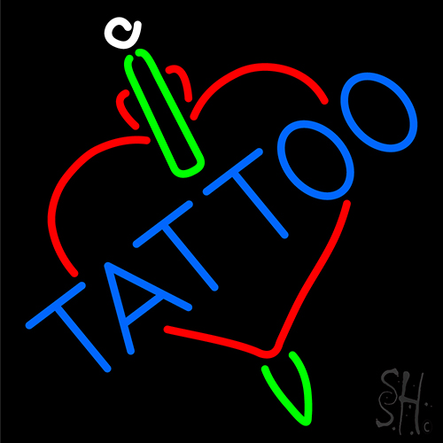 Tattoos inside heart neon sign tattoo neon signs neon for Neon tattoo signs