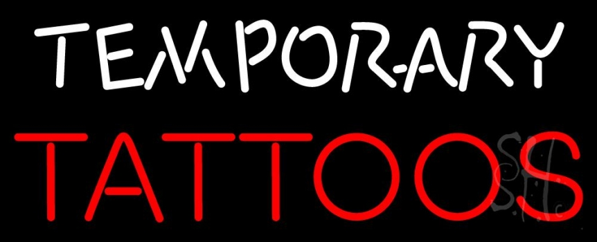 Temporary tattoos neon sign tattoo neon signs neon light for Neon tattoo signs