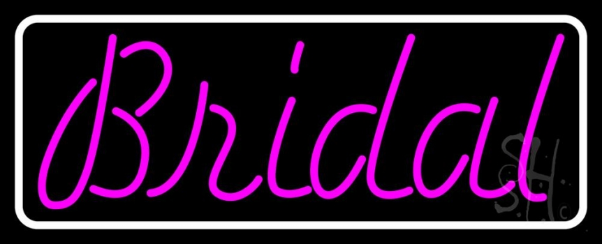 Purple Bridal Cursive Neon Sign